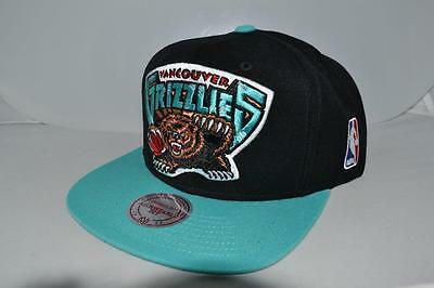 Authentic New Mitchell Ness Vancouver Grizzlies  2 Tone Xl Logo  Snapback New