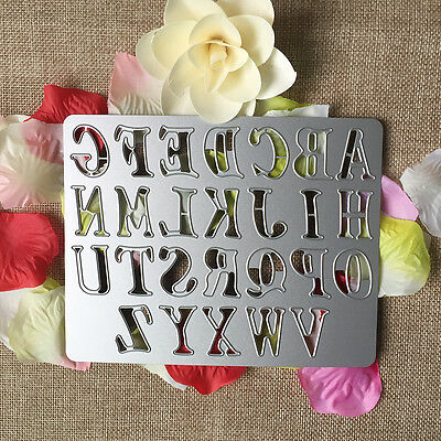 Alphabet Metal Cutting Dies Stencil DIY Scrapbooking Embossing Paper Card Decor