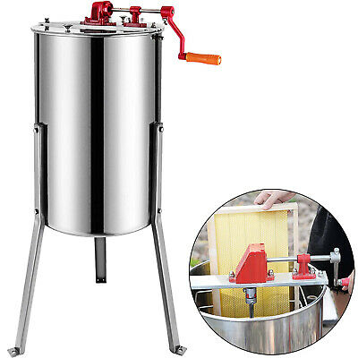 3/6 Frame Honey Extractor Stainless Steel Manual With Cover and Honey Outlet UK