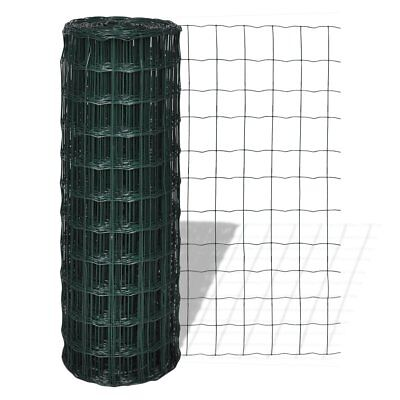 # 25x1.8m Roll Wire Mesh Fence Steel PVC Coated Graden Pet Coop Aviary Fencing