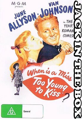 Too Young To Kiss DVD NEW, FREE POSTAGE WITHIN AUSTRALIA REGION ALL