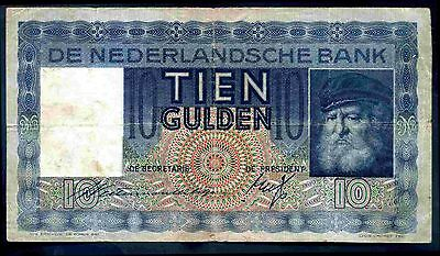 Netherlands. Ten Gulden, JK 004579, 14-5-1936, Nearly Fine.