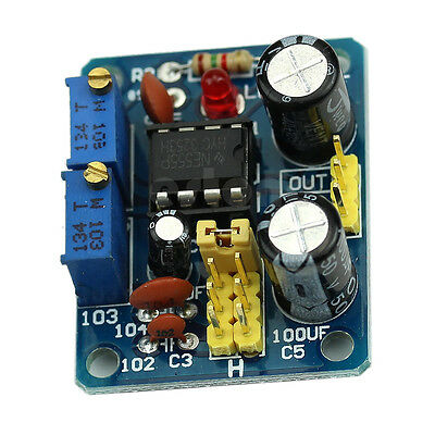 NE555 Duty Cycle and Frequency Adjustable Square Wave Module DIY Kit 1pc