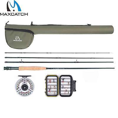 Maxcatch Fly Rod And Reel Set Graphite Trout Fly Fishing Rod With Aluminium Reel