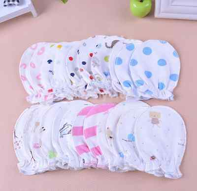 6PC/Lot Newborn Baby Infant Soft Cotton Handguard Anti Scratch Mittens Gloves UK