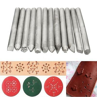 12pcs Assorted Stamp Punch Set Jewelry Jewelers Metal Work Tool Engraving Hobby