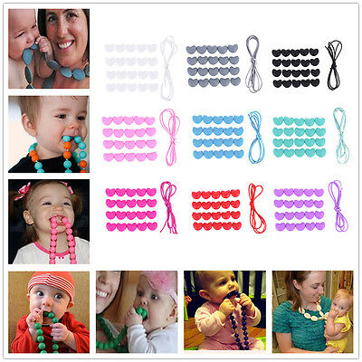 Baby No-BPA Silicone Teething DIY Bracelet Necklace Nursing Beads Chain Teether