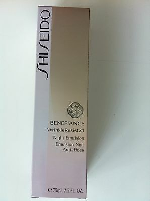 SHISEIDO BENEFIANCE WrinkleResist 24 Night Emulsion 75 ml OVP