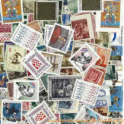 Collection de timbres Croatie oblitérés
