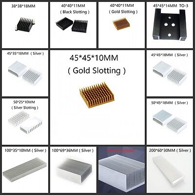 Fin Heat Sink - Multi-Size Choice - 38mm to 200mm New Aluminum Heatsink Cooling