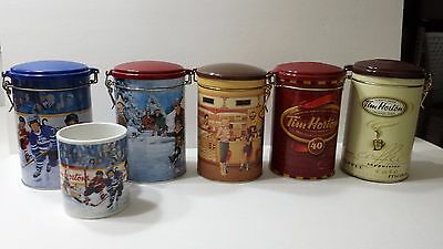 Tim Hortons Tins - Lot of 5 Tins and 1 Limited Edition Cup Coffee Collectible