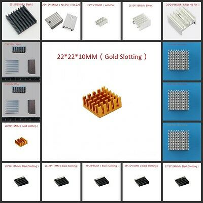 Fin Heat Sink - Multi-Size Choice - 22mm to 37mm New Aluminum Heatsink Cooling
