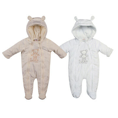 Newborn Infany Baby Boy Girl Teddy Winter Pram Suit Warm Snow Suit  0-6 Months