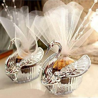 50Pcs Swan Candy Boxes Wedding Favors Gifts Box DF