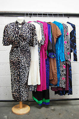 Job Lot Of 10 Vintage Dresses. Mix Of Colours, Sizes And Styles. #46
