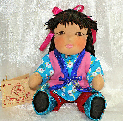 Puppe Böpa Doll in TIBET Tracht Nr.6 HIMALAYA Schafwolle BUDDHA INDIEN NEPAL