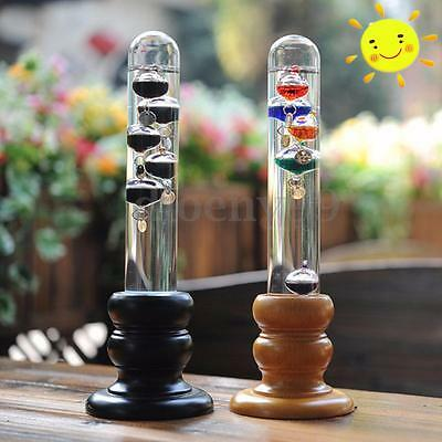 Weather Temperature Thermometer Floating Colored Liquid Balls Glass Home Decor