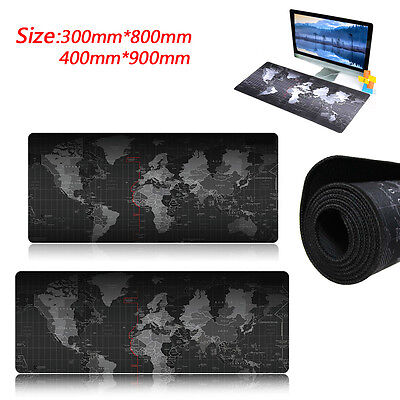 900*400*2MM World Map Anti-Slip Computer Rubber Game Mouse Pad Mat Large XL Good