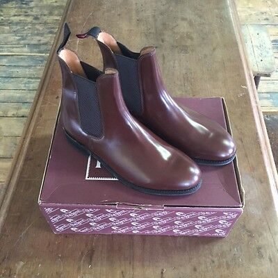 Regent Men's Jodhpur Boot Brown Leather Adult Size 8 Made in UK
