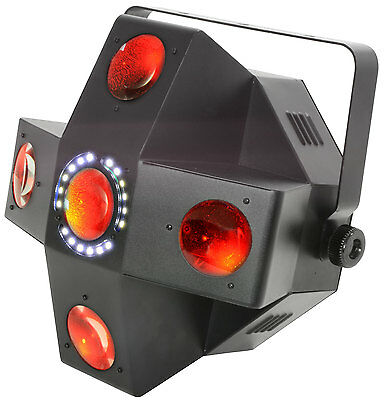 Qtx Collider - 5 Lens Led Moonflower With Strobe 2 In 1 Lighting Effect Dj Disco