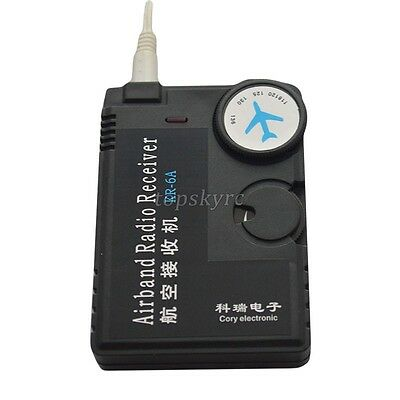 Air Band Radio Receiver 118MHz to 136MHz Aviation Band Receiver f Airport Ground