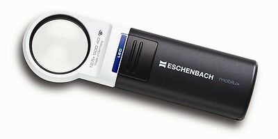 Eschenbach 1511-12 Mobilux Magnifier Loupe LED Light 12.5x 35mm From Japan F/S