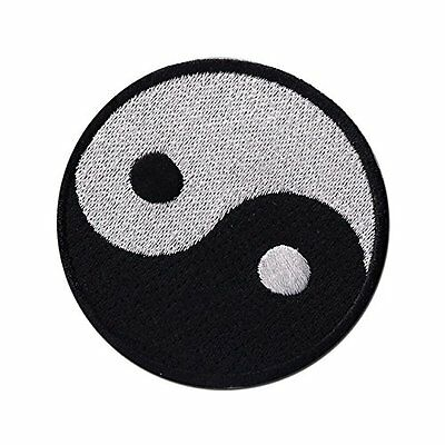"""Yin Yang ying tao 3"""" Logo Sew Ironed On Badge Embroidery Applique Patch"""