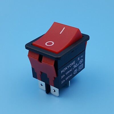 LR-210 Red 4Pin High Current 20A ON-OFF IP55 Rocker Switch For Welding Machine