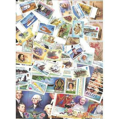 Collection de 85 timbres et 11 blocs neufs de Belize