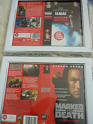 Out for justice & Marked for death vhs sleeve Framed Poster B Movies Photo Dvd