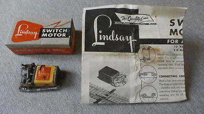 Lindsay Products Vintage Switch Motor L-1085 With Wiring Instructions ~  TS