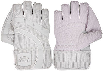 2017 Newbery SPS White Wicket Keeping Gloves Size:Mens
