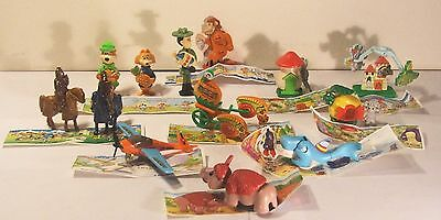 14 Vintage Kinder Surprise Toys 1997 Yogi Metal Knights Animals w Instructions