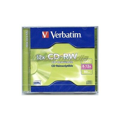 Cd-Rw 700 Mb / 80 Mn Verbatim 8-12X Réinscriptible