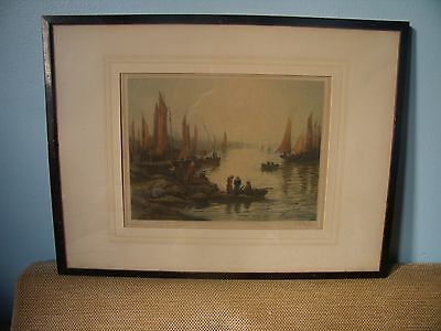 Antique etching signed by E. H. Barlow