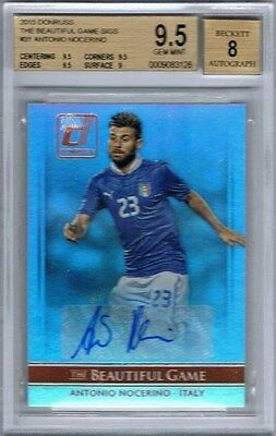2015 Donruss The Beautiful Game Signatures Antonio Nocerino BGS 9.5 Gem Mint