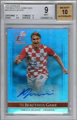 2015 Donruss Soccer The Beautiful Game Signatures Nikica Jelavic BGS 9 Mint