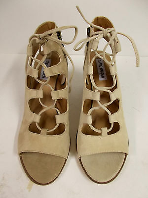 fb980a64b70 STEVE MADDEN CAPRI Suede Lace Up Sandals Womens Size 6 -  8.70 ...