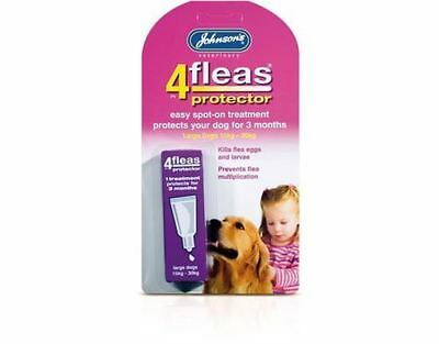 Johnson's 4 Fleas Protector Easy Spot On For Large Dogs 15kg - 30kg