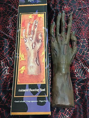 1996 Halloween Factory Gemmy Animated Moving Zombie Monster Hand Sound Activated