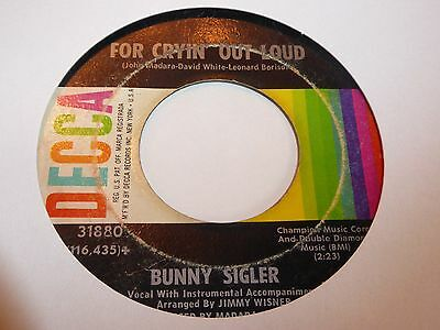 Bunny Sigler - For Crying Out Loud - Decca -  Northern Soul -  MP3