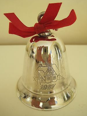 1987 Vintage KIRK STIEFF Silverplate Musical Bell THERE'S NO PLACE LIKE HOME