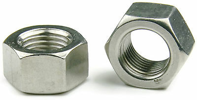 Qty 100 Stainless Steel Hex Jam Thin Nut Metric 3M x .5