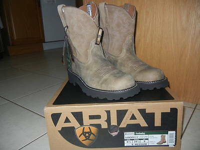 Ariat Women's Fat Baby Fatbaby NWT Brown Bomber SZ 8.5