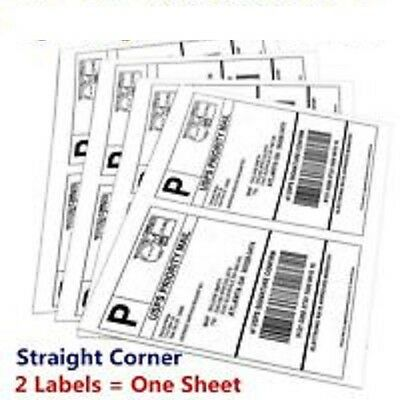 300-8.5x5.5 Shipping Mailing Labels Half Sheet Self Adhesive for UPS,Fedx &USPS