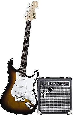 FENDER Squier Stratocaster Bullet BSB chitarra elettrica + Amplificatore + cavo