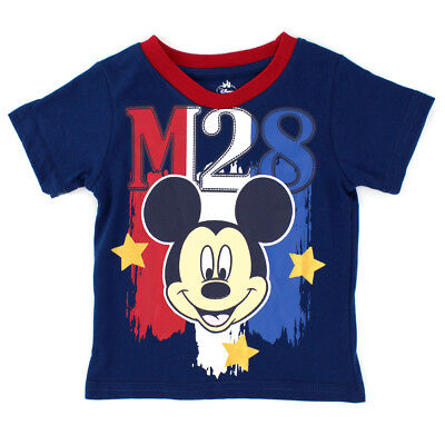 Mickey Mouse Baby Boys Stars and Stripes Short Sleeve Tee - 4YM4770