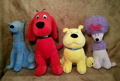 Kohl's Clifford the Big Red Dog Cleo Mac T-Bone plush stuffed Lot set puppy dogs