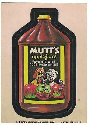 1973 Topps Wacky Packages MUTT'S APPLE JUICE CARD nice condition
