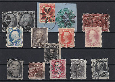 Early American Stamps On Album Page , Huge Cat Value, Ref 448